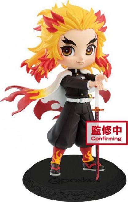 Demon Slayer: Kimetsu no Yaiba Q Posket Kyojuro Rengoku 5.5-Inch Collectible PVC Figure [Version 1] (Pre-Order ships February)