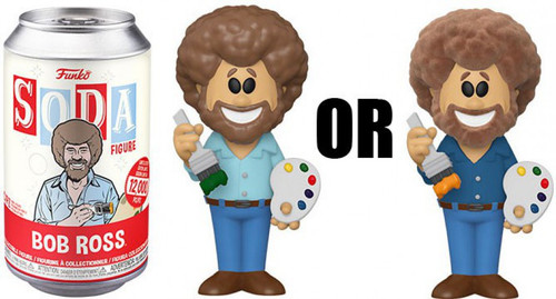 Funko Vinyl Soda Bob Ross Limited Edition of 12,000! Vinyl Figure [1 RANDOM Figure Look For The Rare Chase!]