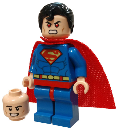 LEGO DC Universe Super Heroes Superman Minifigure [Red Eyes on Reverse / Spongy Cape Loose]