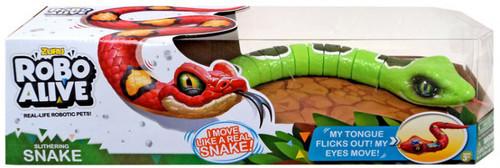 Robo Alive Slithering Snake Robotic Pet Figure [Green, Damaged Package]