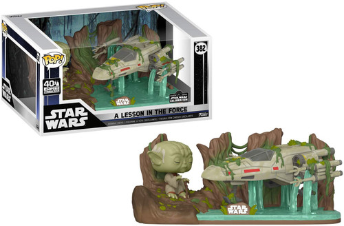 Funko Empire Strikes Back POP! Star Wars A Lesson in the Force Exclusive Deluxe Vinyl Figure #382 [Yoda & X-Wing in Swamp!]