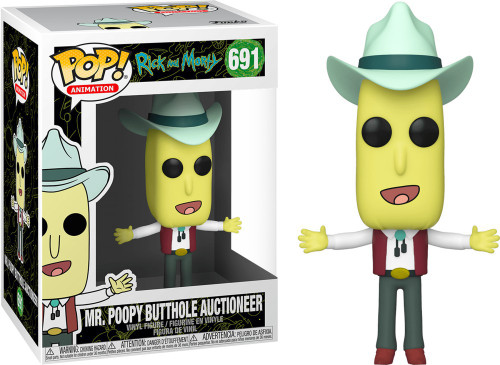 Funko Rick & Morty POP! Animation Mr. Poopy Butthole Auctioneer Vinyl Figure [Damaged Package]