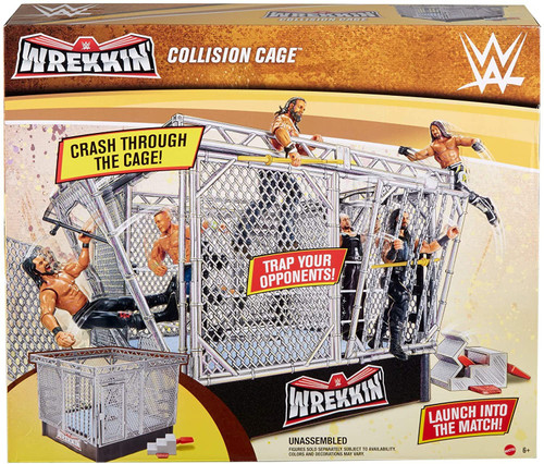 WWE Wrestling Wrekkin' Collision Cage Playset [Build n Bash Cage Match, Damaged Package]