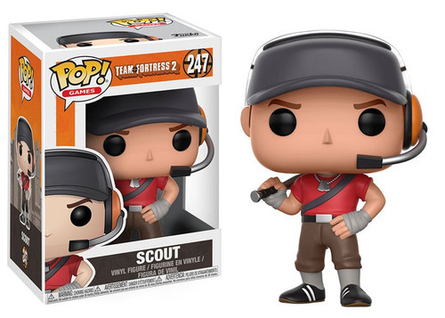 Funko Team Fortress 2 POP! Video Games Scout Vinyl Figure #247 [Damaged Package]