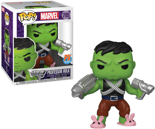 Funko POP! Marvel Professor Hulk Exclusive 6-Inch Vinyl Bobble Head #705 [Pink Bunny Slippers, Super-Sized] (Pre-Order ships January)