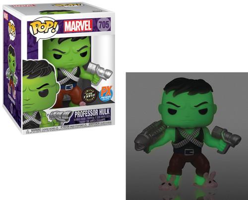 Funko POP! Marvel Professor Hulk Exclusive 6-Inch Vinyl Bobble Head #705 [Glow-In-The-Dark Chase Version, Pink Bunny Slippers, Super-Sized] (Pre-Order ships January)