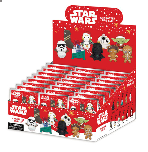 3D Figural Foam Bag Clip Star Wars Christmas Series 1 Mystery Box [24 Packs] (Pre-Order ships January)