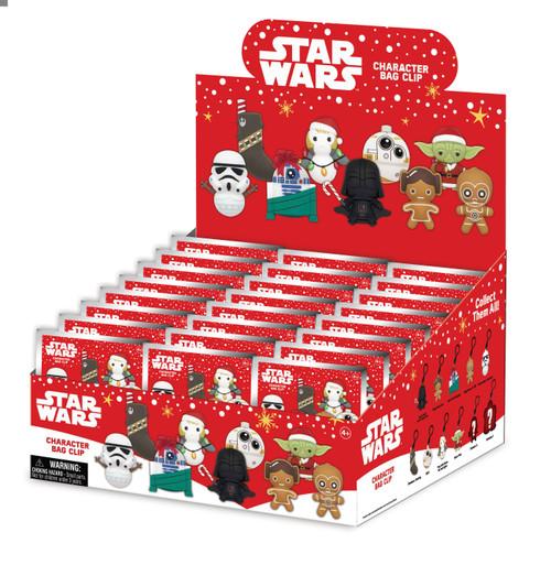 3D Figural Foam Bag Clip Star Wars Christmas Series 1 Mystery Box [24 Packs]