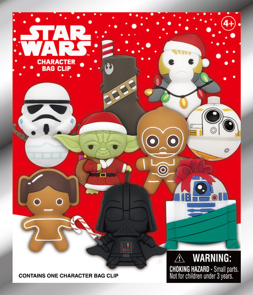3D Figural Foam Bag Clip Star Wars Christmas Series 1 Mystery Pack [1 RANDOM Figure] (Pre-Order ships January)