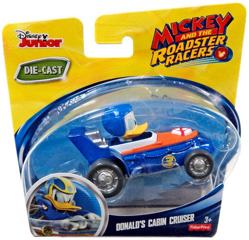 Fisher Price Disney Mickey & Roadster Racers Donald's Cabin Cruiser Diecast Vehicle [Damaged Package]
