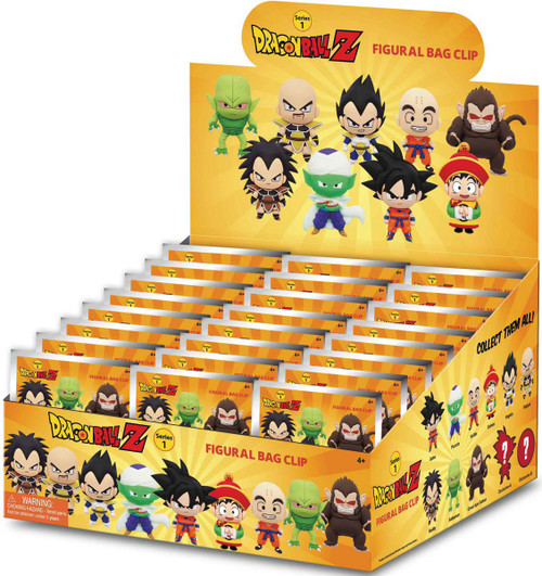 3D Figural Foam Bag Clip Dragon Ball Z Series 1 Mystery Box [24 Packs] (Pre-Order ships January)