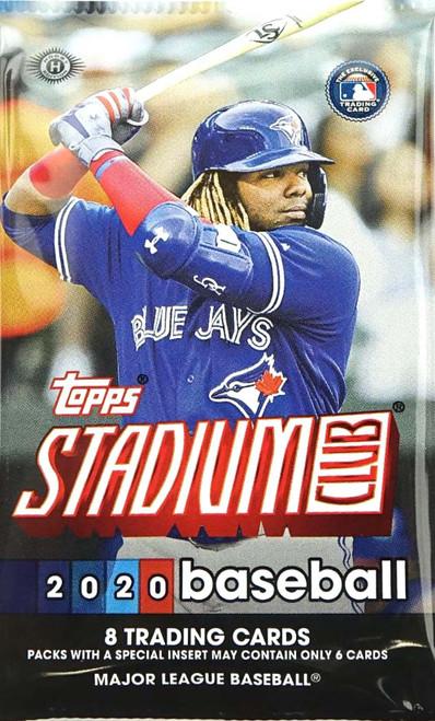 MLB Topps 2020 Stadium Club Baseball Trading Card HOBBY Pack [8 Cards]