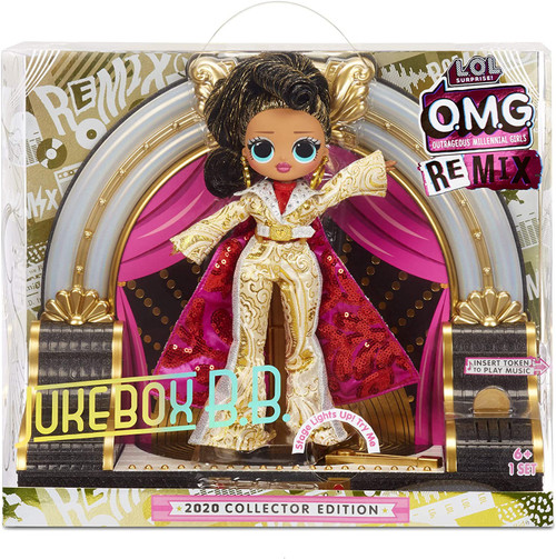 LOL Surprise 2020 OMG ReMix Collector Edition Jukebox B.B with Musical Stage Fashion Doll