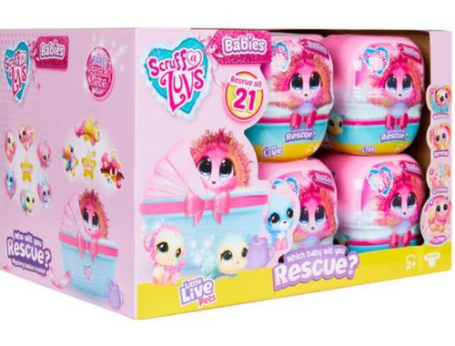 Little Live Pets Scruff A Luvs Babies Series 3 Mini Plush Surprise Mystery Box [12 Packs]