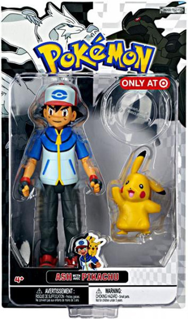 Pokemon Black & White Trainer Figures Ash with Pikachu Exclusive Action Figure