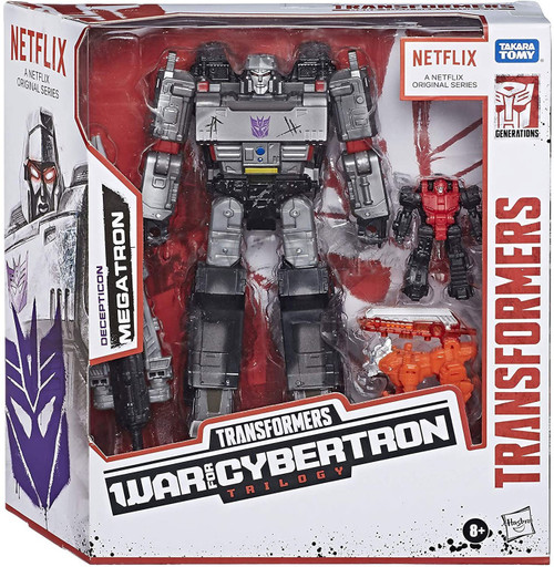 Transformers Generations Megatron Exclusive Voyager Action Figure [with Pinpointer & Lionizer]