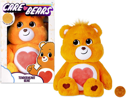 Care Bears Tenderheart Bear 14-Inch Plush with Collectible Coin