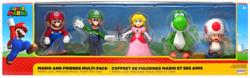 Super Mario Mario, Luigi, Princess Peach, Yoshi & Toad Exclusive 2.5-Inch Mini Figure 5-Pack