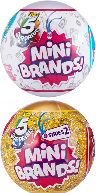 5 Surprise Mini Brands! Series 1 & 2 COMBO of 2 Mystery Packs