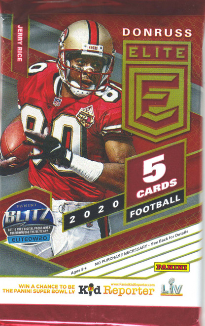 NFL Panini 2020 Elite College Football Trading Card HOBBY Pack [5 Cards!]