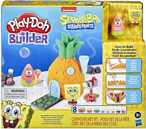 Spongebob Squarepants Play-Doh Builder SpongeBob's Pineapple House Kit