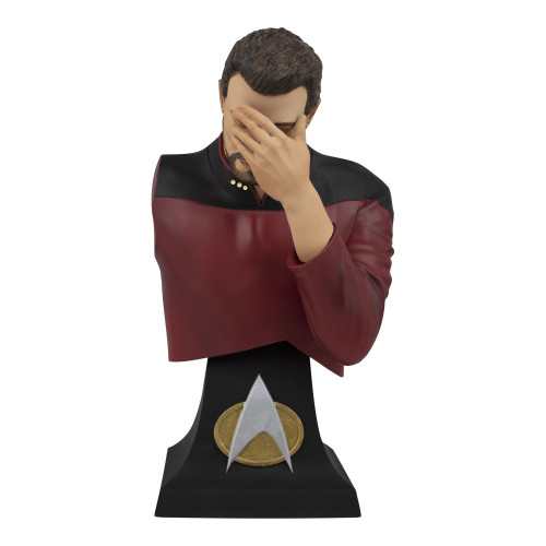 Star Trek: The Next Generation Commander William Riker Exclusive 5.5-Inch Limited Edition Mini Bust Paperweight [Facepalm]