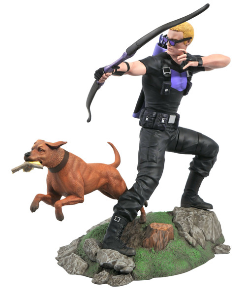 Marvel Gallery Hawkeye & Pizza Dog 9-Inch PVC Figure Statue (Pre-Order ships March)