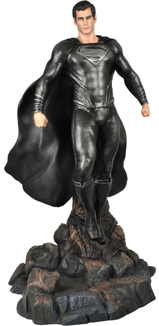 Man of Steel DC Gallery Superman 12-Inch PVC Figure Statue [Kryptonian Black Costume] (Pre-Order ships March)