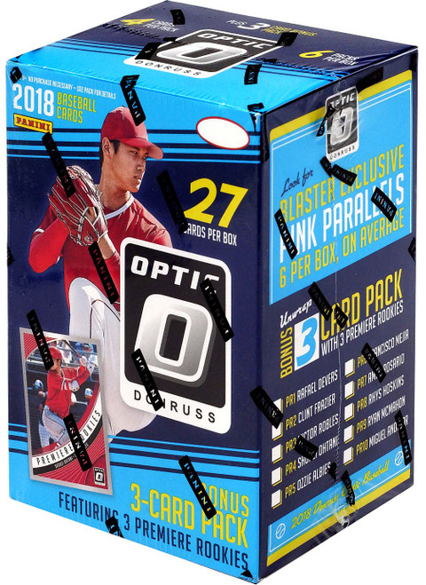 MLB Panini 2018 Donruss Optic Baseball Trading Card BLASTER Box [6 Packs + Bonus 3-Card Pack]