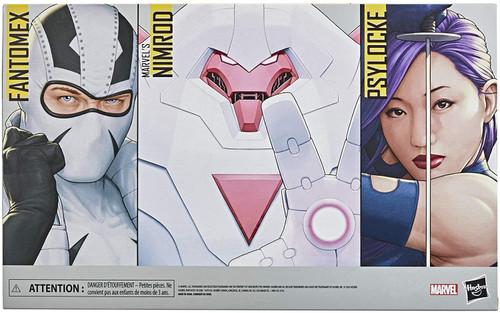 X-Men Marvel Legends Psylocke, Nimrod & Fantomex Exclusive Action Figure 3-Pack