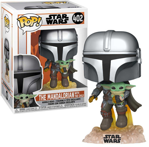 Funko POP! Star Wars The Mandalorian with The Child Vinyl Figure #402 [Flying with Jet Pack]