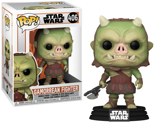 Funko The Mandalorian POP! Star Wars Gamorrean Fighter Bobble Head Vinyl Figure #406