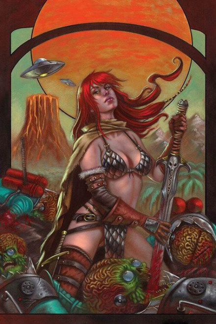 Dynamite Entertainment Mars Attacks Red Sonja #1 Comic Book [Strati Virgin Cover]