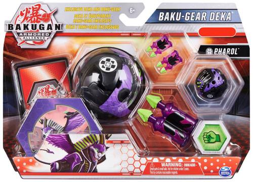 Bakugan Armored Alliance Baku-Gear Deka Pharol Exclusive Figure Set [Jumbo Bakucore]