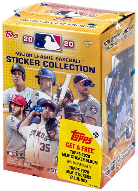 MLB Topps 2020 Baseball Sticker Collection VALUE Box [10 Packs]