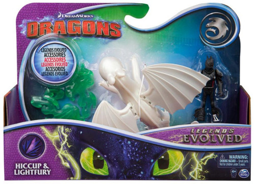 How to Train Your Dragon Dragons Legends Evolved Hiccup & Lightfury Action Figure 2-Pack