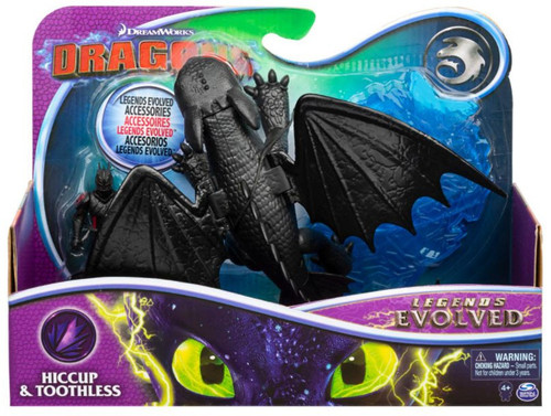 How to Train Your Dragon Dragons Legends Evolved Hiccup & Toothless Action Figure 2-Pack
