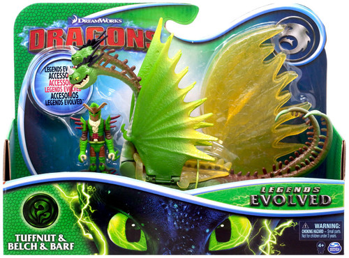 How to Train Your Dragon Dragons Legends Evolved Tuffnut & Belch & Barf Action Figure 2-Pack