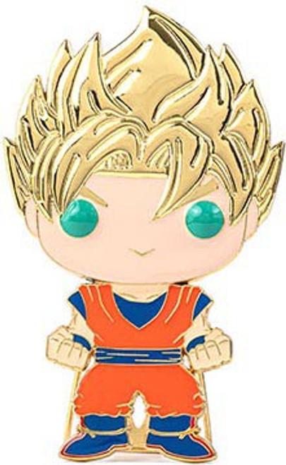 Funko Dragon Ball Z POP! Pins Super Saiyan Goku Large Enamel Pin (Pre-Order ships January)