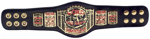 ECW Wrestling World Tag Team Champions Belt 12-Inch Replica