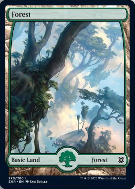 MtG Zendikar Rising Common Forest #278 [FOIL 278]