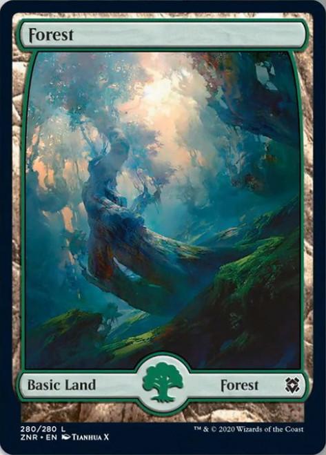 MtG Zendikar Rising Common Forest #280 [FOIL 280]