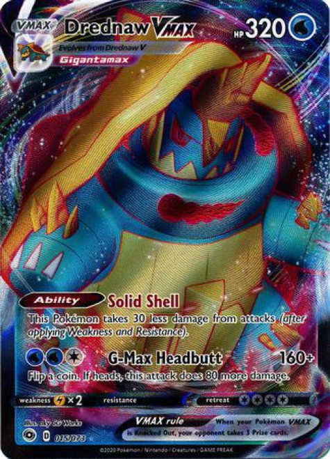 Pokemon Champion's Path Ultra Rare Drednaw VMAX #15