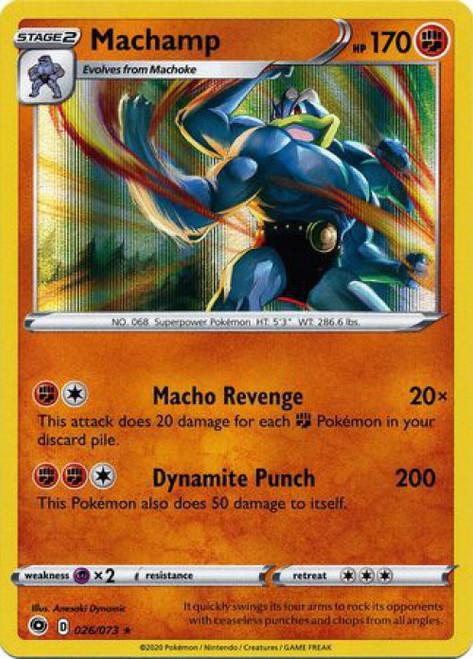 Pokemon Champion's Path Rare Holo Machamp #26