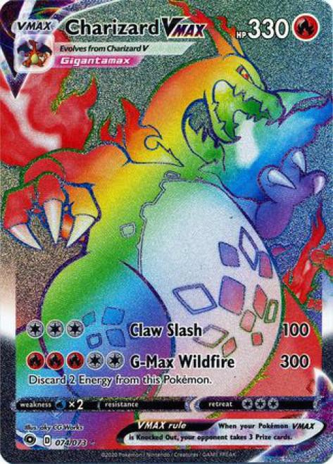 Pokemon Champion's Path Secret Rare Charizard VMAX #74
