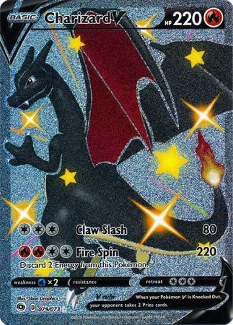 Pokemon Champion's Path Secret Rare Charizard V #79