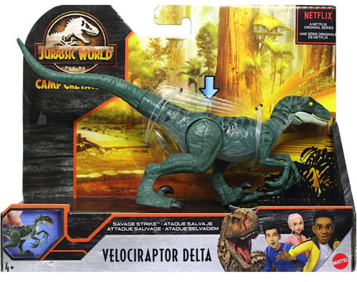 Jurassic World Camp Cretaceous Velociraptor Delta Action Figure [Savage Strike]