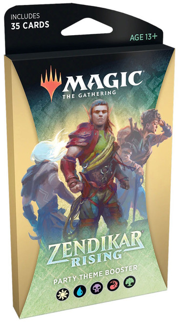 MtG Trading Card Game Zendikar Rising Party Theme Booster Pack [35 Cards]