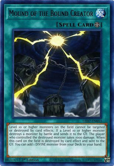 YuGiOh Legendary Duelists: Rage of Ra Rare Mound of the Bound Creator LED7-EN053