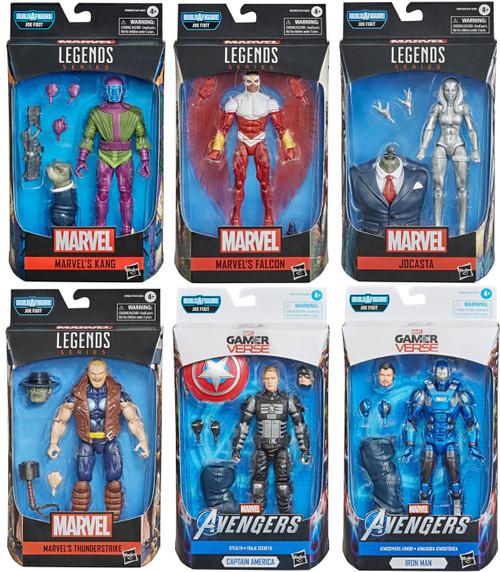 Gamerverse Marvel Legends Joe Fixit Series Kang, Jocosta, Falcon, Thunderstrike, Iron Man & Captain America Set of 6 Action Figures